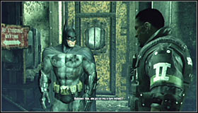 A longer cutscene will play, featuring the arresting of Riddler #1 and a conversation with Aaron Cash #2 - Enigma Conundrum (riddles 16-17) | Side missions - Side missions - Batman: Arkham City Game Guide