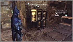 You will be informed of the possibility to approach this mission as you're travelling through Arkham City, a prompt saying that a ringing phone has been detected in the area will appear #1 - Cold Call Killer - Side missions - Batman: Arkham City - Game Guide and Walkthrough