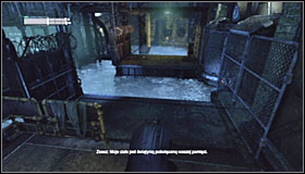 Move right until you reach a new ledge onto which you can climb #1 - Cold Call Killer - Side missions - Batman: Arkham City - Game Guide and Walkthrough