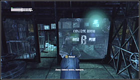 Jump onto the ice, wait for the water level to go up and use the Grapnel Gun to grab the grapple point above the last platforms #1 - Cold Call Killer - Side missions - Batman: Arkham City - Game Guide and Walkthrough
