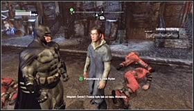 Try to attack the enemies from above if possible and afterwards eliminate the others in direct combat #1 - Acts of Violence - Side missions - Batman: Arkham City - Game Guide and Walkthrough