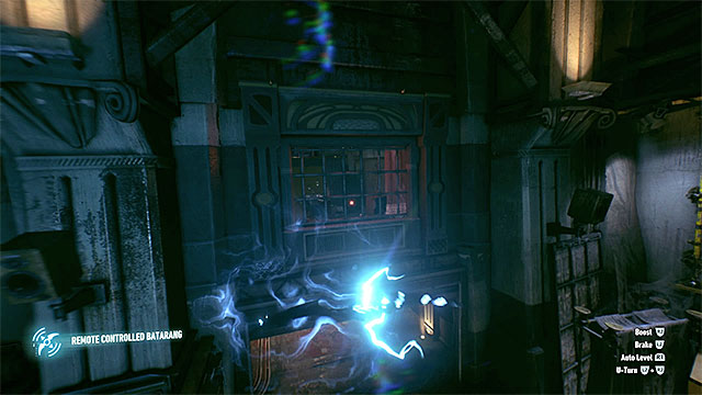 The electrified batarang needs to fly through the shutter - Riddler trophies in the Panessa Studios (1-10) | Collectibles - Pannesa Film Studios - Collectibles - Pannesa Film Studios - Batman: Arkham Knight Game Guide & Walkthrough