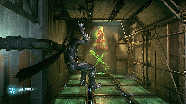 While using the line launcher try to find the opportunities to change the way you move - Riddler trophies in the Panessa Studios (1-10) | Collectibles - Pannesa Film Studios - Collectibles - Pannesa Film Studios - Batman: Arkham Knight Game Guide & Walkthrough