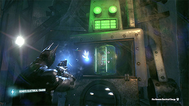 Send charges to the generator to reload it - Riddler trophies in the Panessa Studios (11-21) | Collectibles - Pannesa Film Studios - Collectibles - Pannesa Film Studios - Batman: Arkham Knight Game Guide & Walkthrough