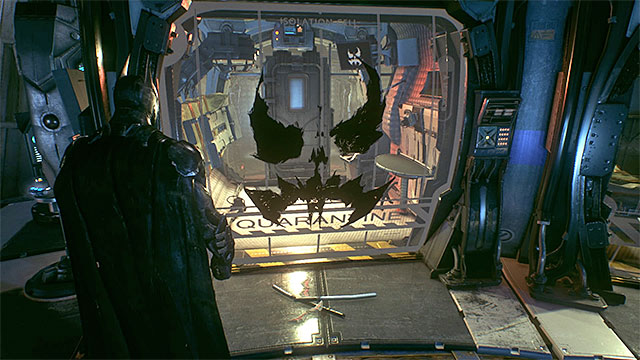 The cell in which Robin has been held - Riddles in the Panessa Studios - Collectibles - Pannesa Film Studios - Batman: Arkham Knight - Game Guide and Walkthrough