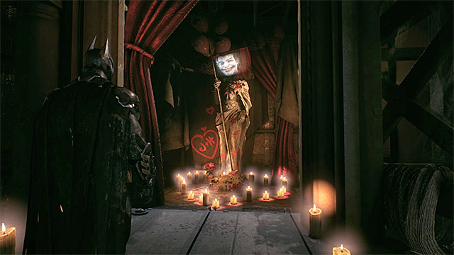 Scan the altar in memory of Joker - Riddles in the Panessa Studios - Collectibles - Pannesa Film Studios - Batman: Arkham Knight - Game Guide and Walkthrough