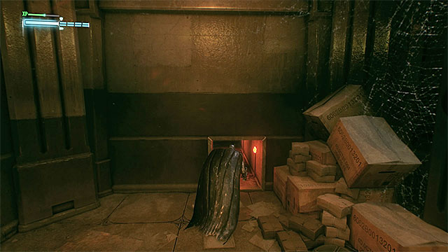 Use the openings and ventilation shafts to get to the side rooms - Breakable objects in the Panessa Studios | Collectibles - Pannesa Film Studios - Collectibles - Pannesa Film Studios - Batman: Arkham Knight Game Guide & Walkthrough