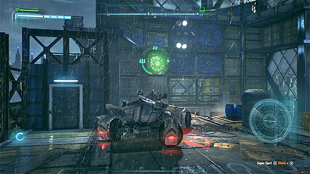 Ride to the top of the building and find the round sign after you perform the jump - Riddler trophies on Founders Island (17-33) | Collectibles - Founders Island - Collectibles - Founders Island - Batman: Arkham Knight Game Guide & Walkthrough
