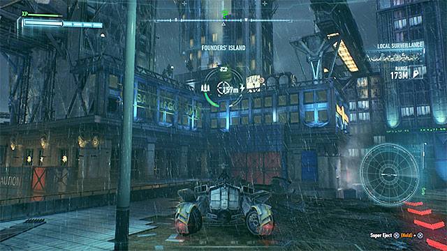 Required gadgets: Batmobile - Riddler trophies on Founders Island (17-33) | Collectibles - Founders Island - Collectibles - Founders Island - Batman: Arkham Knight Game Guide & Walkthrough
