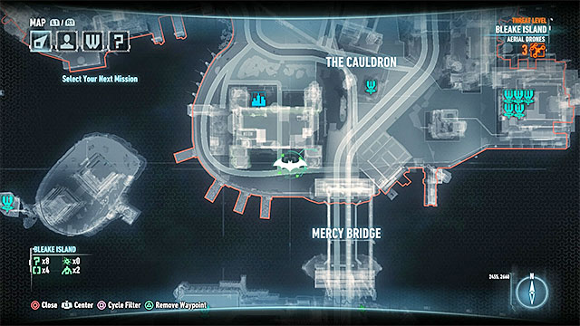Required gadgets: Batmobile, winch, grappling hook - Riddler trophies on Founders Island (17-33) | Collectibles - Founders Island - Collectibles - Founders Island - Batman: Arkham Knight Game Guide & Walkthrough