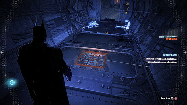Many of the collectibles are in the foyer of the Alpha airship (its Eastern part), which is located on the bottom levels of the airship and you may have some problems getting near there - Hints on the exploration of the Alpha airship - Collectibles - Stagg Airships - Batman: Arkham Knight - Game Guide and Walkthrough