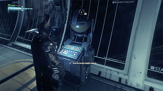 In the case of the cargo compartment of the Alpha airship, the most difficult part is the fact that Batman may initially not be able to control the stabilizers of the airship, in order to roll it - Hints on the exploration of the Alpha airship - Collectibles - Stagg Airships - Batman: Arkham Knight - Game Guide and Walkthrough