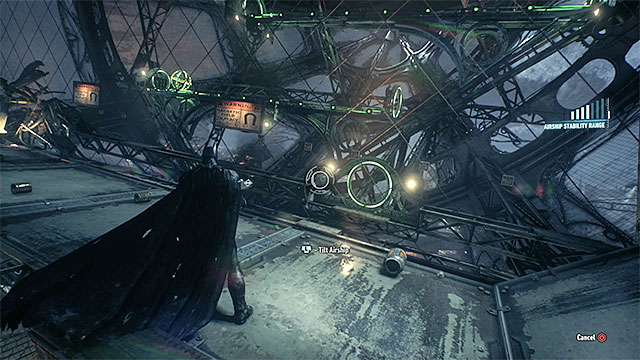 Tilt the airship to the sides, thanks to which the orb, with the trophy inside, will roll - Riddler trophies in the Stagg Airships (1-10) | Collectibles - Stagg Airships - Collectibles - Stagg Airships - Batman: Arkham Knight Game Guide & Walkthrough