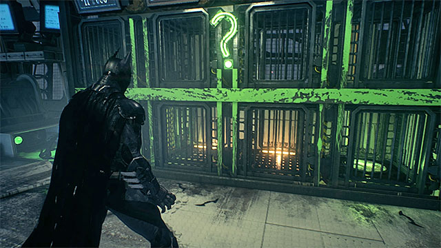 Use the fact that the monkey follows Batman (if only it does not run into any obstacles) - Riddler trophies in the Stagg Airships (11-21) | Collectibles - Stagg Airships - Collectibles - Stagg Airships - Batman: Arkham Knight Game Guide & Walkthrough