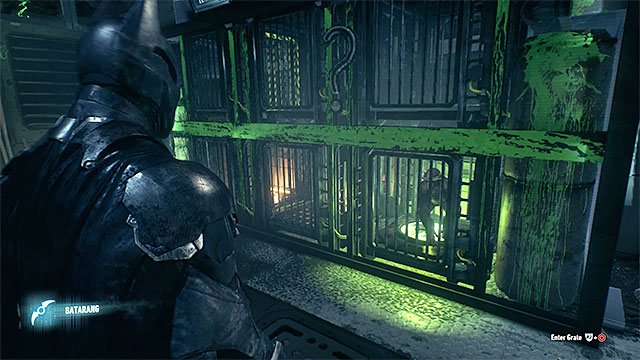 Lead he monkey up to the pressure plate - Riddler trophies in the Stagg Airships (11-21) | Collectibles - Stagg Airships - Collectibles - Stagg Airships - Batman: Arkham Knight Game Guide & Walkthrough