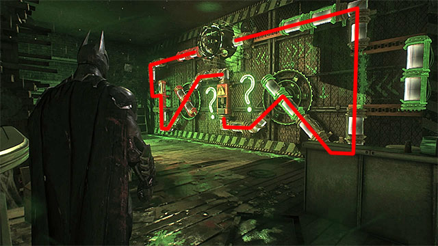 Required gadgets: remote hacking device, batarang, electrical charge, batclaw - Riddler trophies in the Arkham Knight HQ (1-10) | Collectibles - Arkham Knight HQ - Collectibles - Arkham Knight HQ - Batman: Arkham Knight Game Guide & Walkthrough