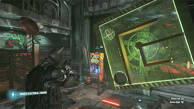 Spin the cabinet to make the sphere with the trophy reach the hole - Riddler trophies in the Arkham Knight HQ (1-10) | Collectibles - Arkham Knight HQ - Collectibles - Arkham Knight HQ - Batman: Arkham Knight Game Guide & Walkthrough