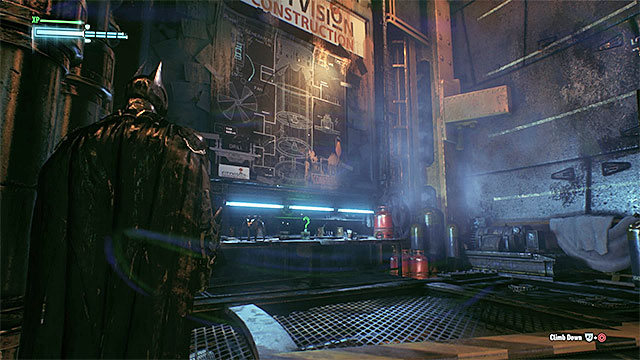The trophy is well-exposed on level one - Riddler trophies in the Arkham Knight HQ (1-10) | Collectibles - Arkham Knight HQ - Collectibles - Arkham Knight HQ - Batman: Arkham Knight Game Guide & Walkthrough