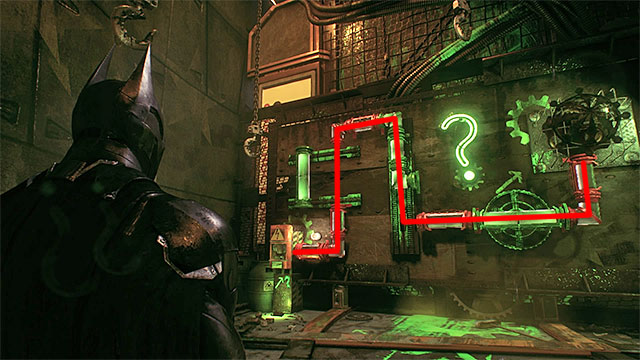 Required gadgets: remote hacking device, electrical charge, batarang, batclaw - Riddler trophies in the Arkham Knight HQ (11-21) | Collectibles - Arkham Knight HQ - Collectibles - Arkham Knight HQ - Batman: Arkham Knight Game Guide & Walkthrough