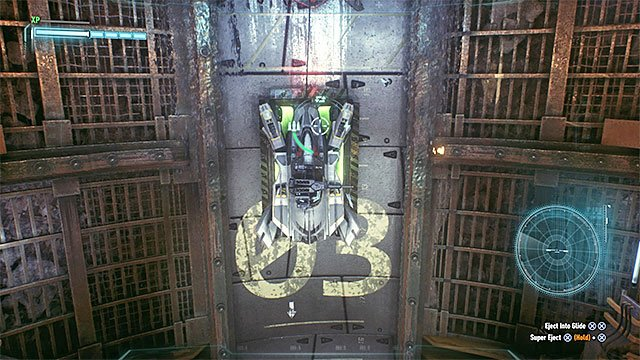 Park the batmobile on the big pressure plate - Riddler trophies in the Arkham Knight HQ (11-21) | Collectibles - Arkham Knight HQ - Collectibles - Arkham Knight HQ - Batman: Arkham Knight Game Guide & Walkthrough