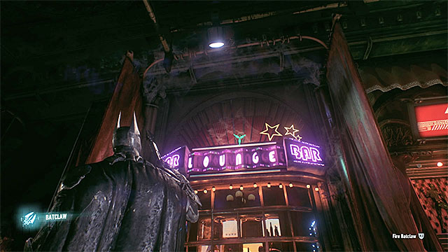 The trophy is on the rooftop of the bar - Riddler trophies in the Arkham Knight HQ (11-21) | Collectibles - Arkham Knight HQ - Collectibles - Arkham Knight HQ - Batman: Arkham Knight Game Guide & Walkthrough