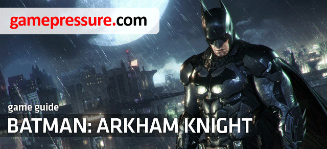 This unofficial guide for the Batman: Arkham Knight predominantly includes information on the whereabouts of the Riddlers collectibles, trophies, riddles, breakable objects, bomb rioters as well as solutions for all of the 243 puzzles - Introduction - Riddles and challenges - Batman: Arkham Knight Game Guide & Walkthrough