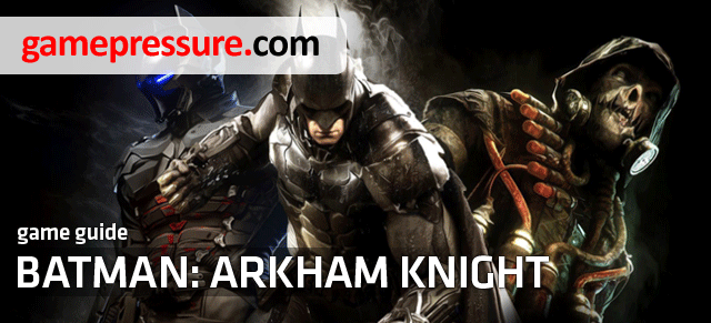 This unofficial Batman: Arkham Knight game guide contains a detailed walkthrough for all the missions in the game (story missions and side quests, like for example rescuing hostiles or eliminating villains) - Walkthrough - Introduction - Walkthrough - Batman: Arkham Knight Game Guide & Walkthrough