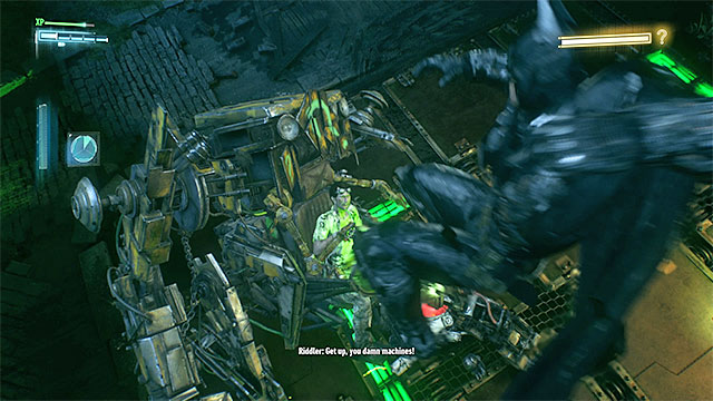 Attack after the Batman jumps onto the Riddlers machine - The Riddler - proper boss battle - Riddles and challenges - Batman: Arkham Knight Game Guide & Walkthrough