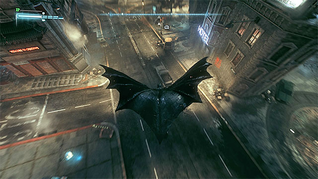 You need to get right above the vehicle to land on it - Achievements / Trophies | Collectibles - Arkham Knight HQ - Collectibles - Arkham Knight HQ - Batman: Arkham Knight Game Guide & Walkthrough