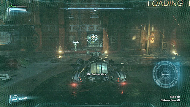 You can use the Winch on the pipe only after you use Explosive Gel and hack the terminal on the wall. - Rescue the missing ACE Chemicals workers (continued) | Main story - Main story - Batman: Arkham Knight Game Guide & Walkthrough