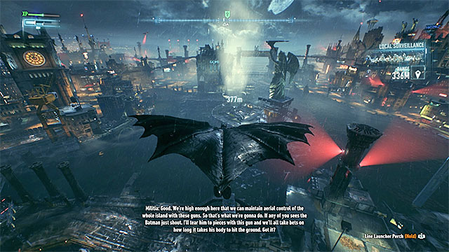 Glide towards the isle with the Statue of Lady of Gotham - Lamb to the Slaughter | Side missions (Most Wanted) - Side missions (Most Wanted) - Batman: Arkham Knight Game Guide & Walkthrough