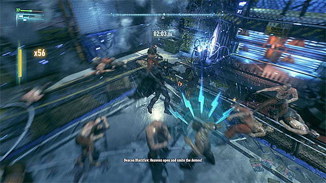 During the fight, steer clear of the electrified fences and do not let the enemies use any firearms. - Lamb to the Slaughter | Side missions (Most Wanted) - Side missions (Most Wanted) - Batman: Arkham Knight Game Guide & Walkthrough
