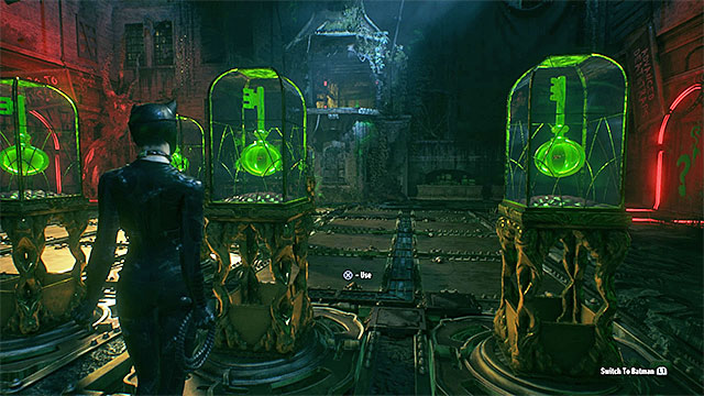 After you have won the three time trials, get out of the batmobile and go to the pressure plate - Fourth Riddler trial - Riddles and challenges - Batman: Arkham Knight Game Guide & Walkthrough