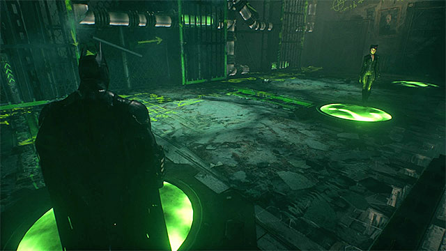 This trial is similar to the third one, because here you need to cooperate closely with Catwoman - Sixth Riddler trial - Riddles and challenges - Batman: Arkham Knight Game Guide & Walkthrough