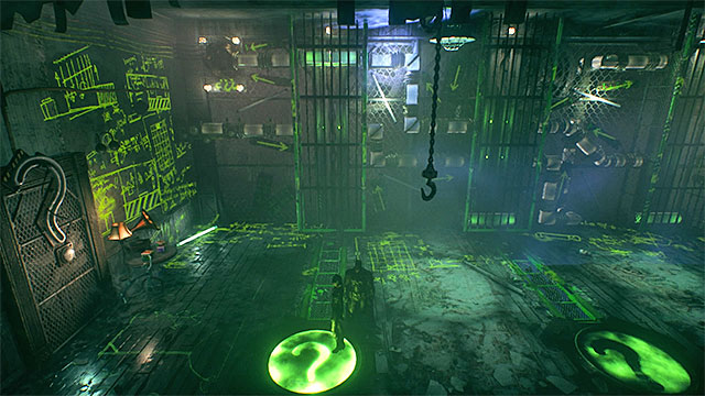 Move as Catwoman and (after the orb makes it through the tunnel) move Batman onto the left plate - Sixth Riddler trial - Riddles and challenges - Batman: Arkham Knight Game Guide & Walkthrough