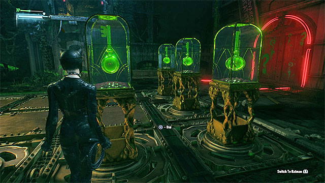 The attempt to return to the batmobile activates two turrets in the neighboring tunnel - Seventh Riddler trial - Riddles and challenges - Batman: Arkham Knight Game Guide & Walkthrough