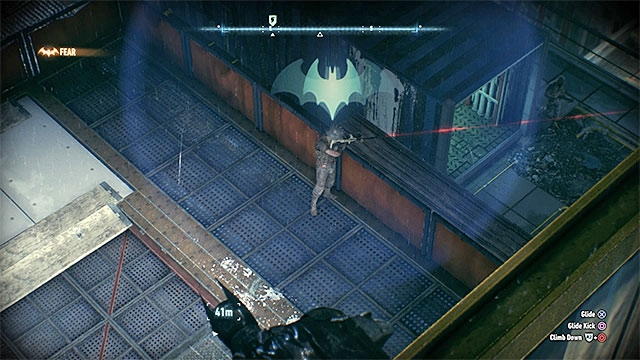 The sniper is one of the opponents guarding Penguins hideout - Gunrunner | Side missions (Most Wanted) - Side missions (Most Wanted) - Batman: Arkham Knight Game Guide & Walkthrough