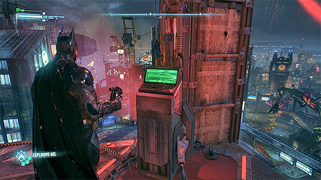 An example terminal that you need to apply the explosive gel to - Occupy Gotham | Side missions (Most Wanted) - Side missions (Most Wanted) - Batman: Arkham Knight Game Guide & Walkthrough