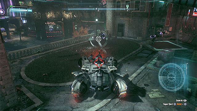 You can use the Batmobile to jump to the fenced territory or take care of the enemies without the vehicle - Own the Roads - Side missions (Most Wanted) - Batman: Arkham Knight - Game Guide and Walkthrough