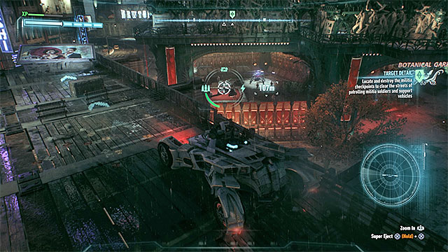 Point 4 - You will find drones in addition to the standard enemies in the fenced territory - Own the Roads - Side missions (Most Wanted) - Batman: Arkham Knight - Game Guide and Walkthrough