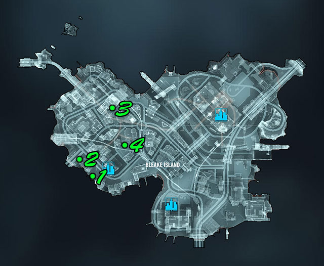 The map above shows location of militia checkpoints - Own the Roads - Side missions (Most Wanted) - Batman: Arkham Knight - Game Guide and Walkthrough