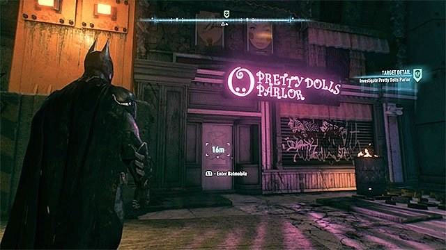 Entrance to the parlor - The Perfect Crime | Side missions (Most Wanted) - Side missions (Most Wanted) - Batman: Arkham Knight Game Guide & Walkthrough