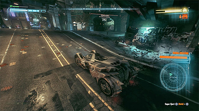 It is a good idea to push the smaller vehicles off the road - Armored and Dangerous | Side missions (Most Wanted) - Side missions (Most Wanted) - Batman: Arkham Knight Game Guide & Walkthrough