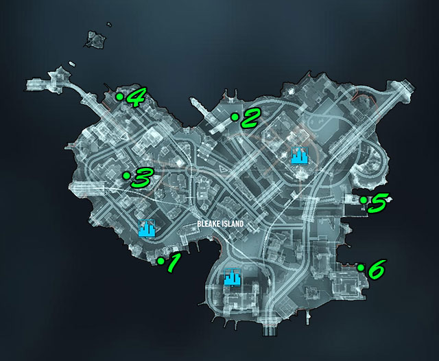 Firefighter Locations Founders Island Map