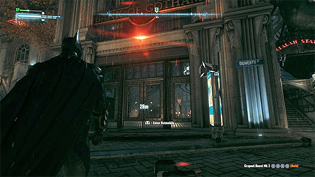Get inside the bank to start the elimination of the Two-Faces subordinates - Two-Faced Bandit - Side missions (Most Wanted) - Batman: Arkham Knight - Game Guide and Walkthrough