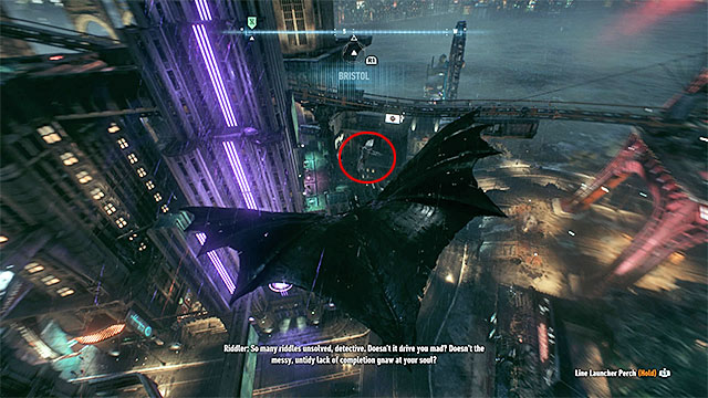 Use the gliding option in order to get closer to the monster while flying - Creature of the Night | Side missions (Most Wanted) - Side missions (Most Wanted) - Batman: Arkham Knight Game Guide & Walkthrough