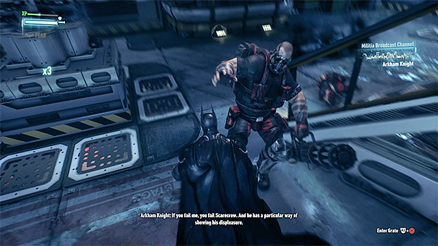 While fighting the elite enemy press the counter button in the correct moments - Find Scarecrow onboard the second airship | Main story - Main story - Batman: Arkham Knight Game Guide & Walkthrough