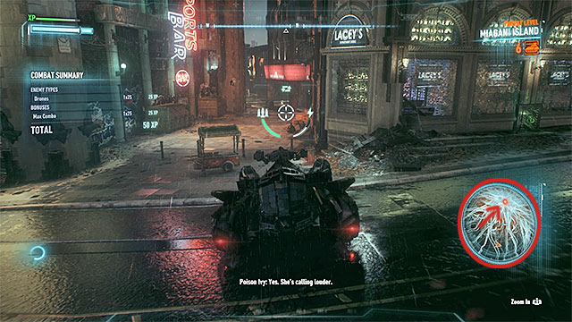 1 - Use the Batmobiles sonar to locate Ivys second plant | Main story - Main story - Batman: Arkham Knight Game Guide & Walkthrough