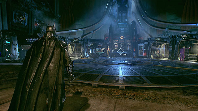 Reach the main hall - here you will meet Robin and use the Batcomputer - Analyze the Arkham Knights forces in Panessa Studios | Main story - Main story - Batman: Arkham Knight Game Guide & Walkthrough