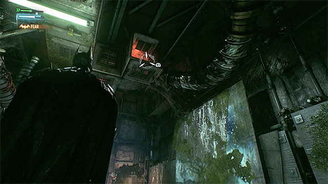 Entrance to the vent shaft is well hidden - Apprehend Johnny Charisma in sound stage C | Main story - Main story - Batman: Arkham Knight Game Guide & Walkthrough